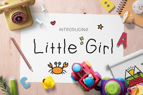 LittleGirl趣味性手写可爱海报英文字体下载