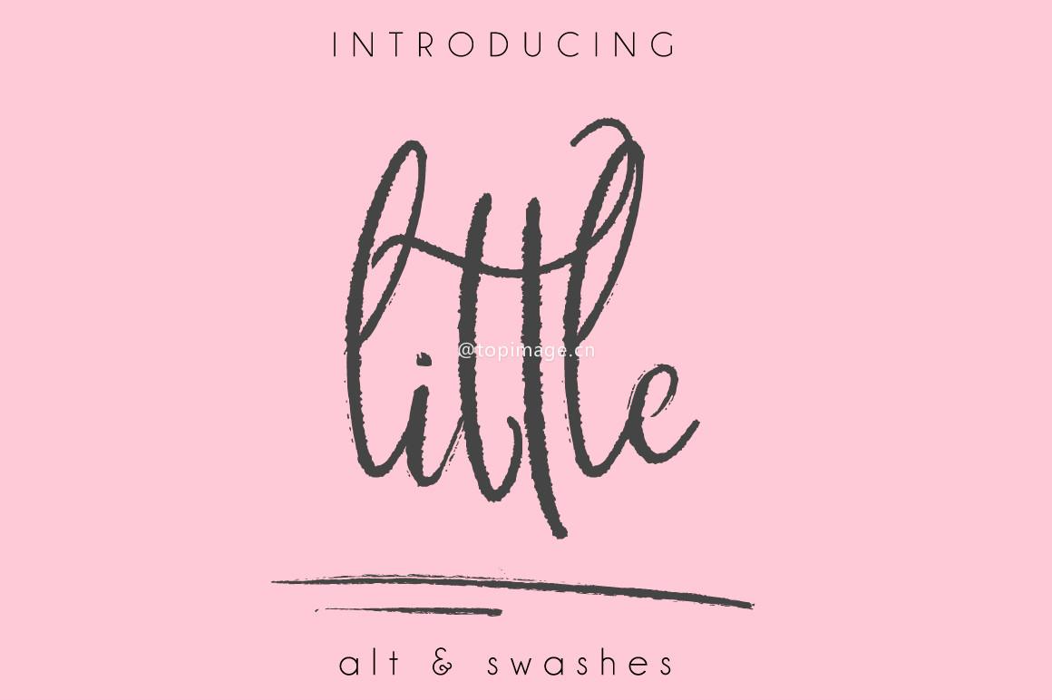 LittleMoose手写笔刷街头涂鸦英文字体下载