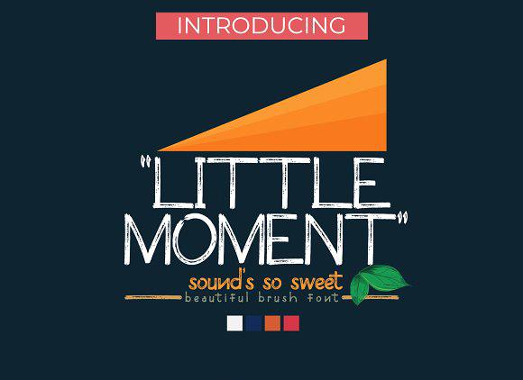 Little Moment 手写纹理卡通可爱英文字体下载