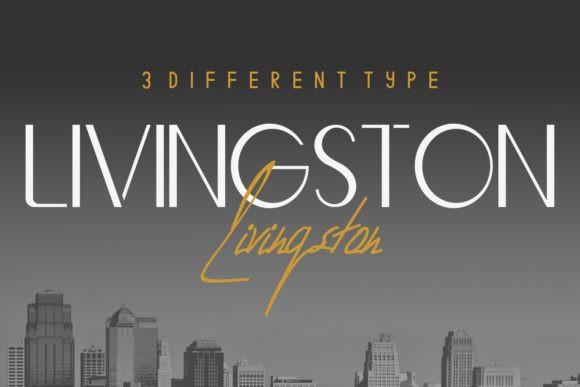 Livingston手写创意设计英文字体下载