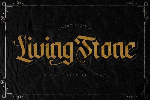 Livingstone欧美哥特复古奇卡诺纹身个性英文字体下载