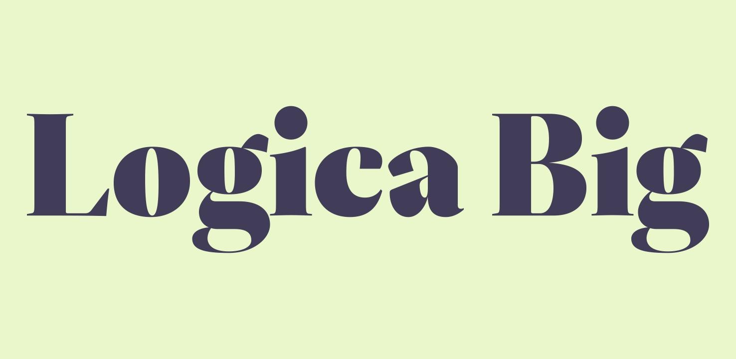 LogicaBig 复古衬线传统英文logo字体下载