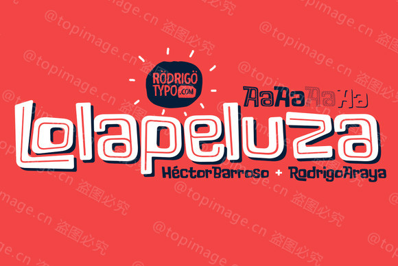 Lolapeluza创意时尚卡通海报个性化英文字体下载