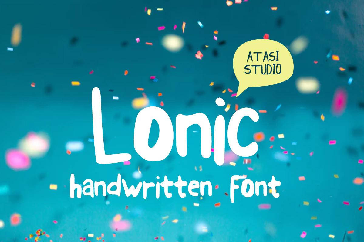 Lonic手写手绘可爱卡通英文字体下载