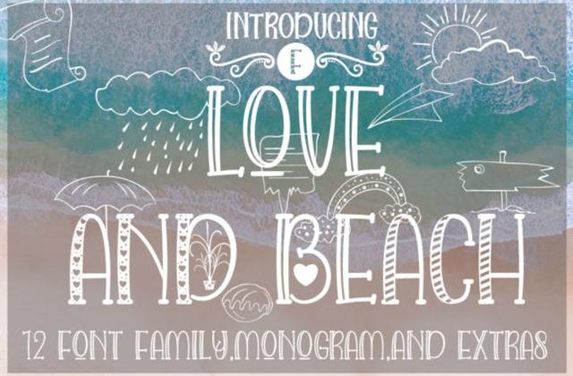 Love and Beach 沙滩假日英文字体下载