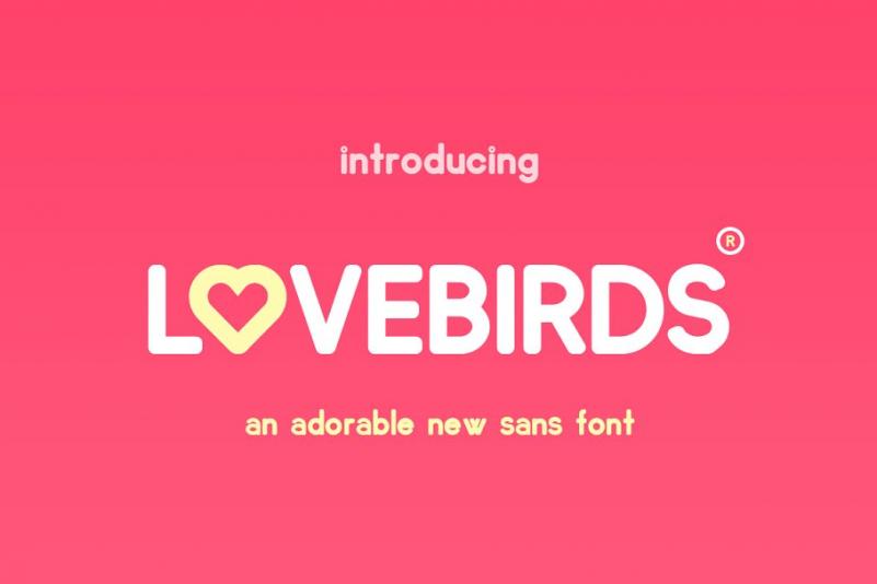 Lovebirds圆润现代简洁爱心英文字体下载