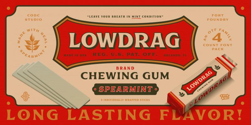 Lowdrag经典衬线logo英文字体下载