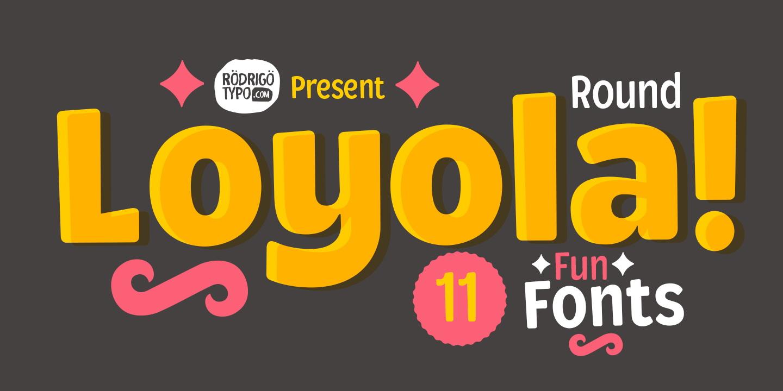 LoyolaRoundPro卡通可爱儿童标签海报logo英文字体下载