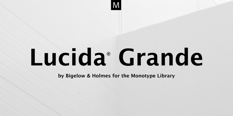 Lucida Grande 现代无衬线英文字体下载