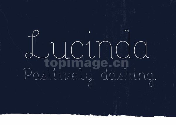 Lucinda个性艺术海报点连笔英文字体下载