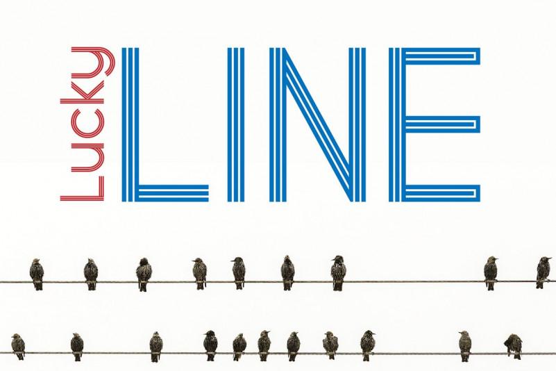 LuckyLine线条无衬线简洁logo现代英文字体下载