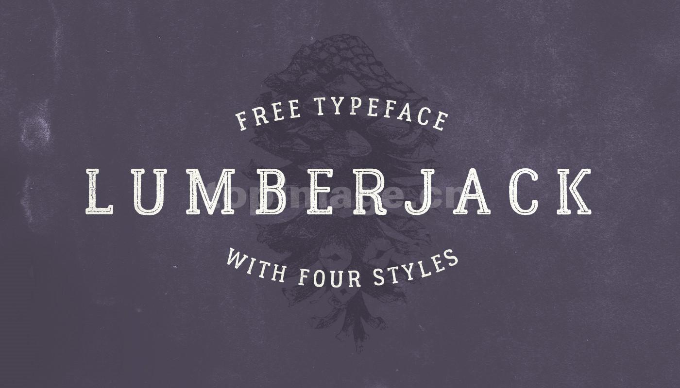 Lumberjack衬线复古怀旧英文字体下载