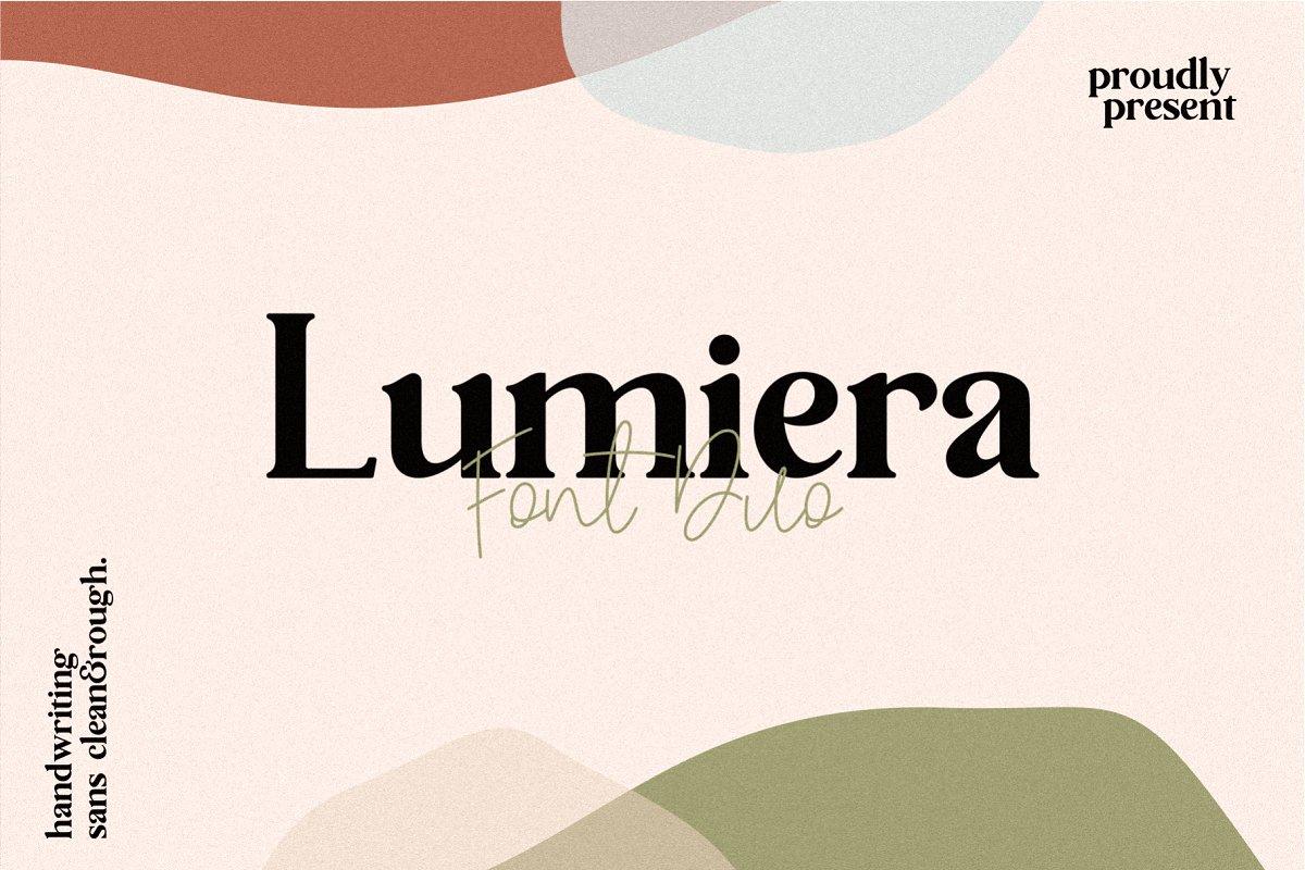 Lumiera衬线优雅设计排版英文字体下载