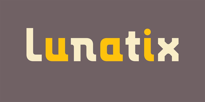 LunatixOT现代无衬线科技logo英文字体下载