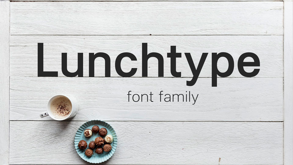Lunchtype无衬线现代logo英文字体下载