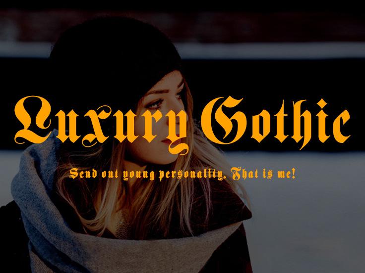 LuxuryGothic哥特复古英文字体下载