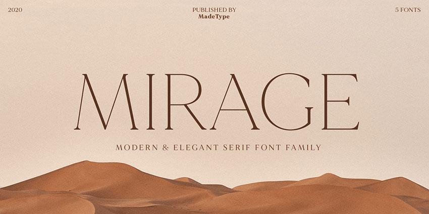 MADEMirage现代衬线时尚杂志logo英文字体下载