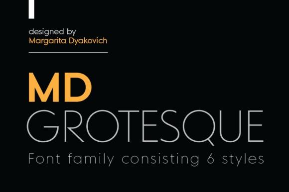 MD Grotesque现代无衬线简洁logo英文字体下载