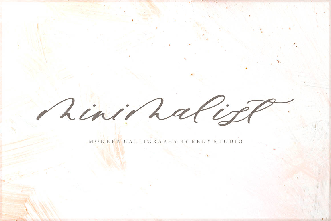 MINIMALIST手写连笔签名艺术英文字体下载