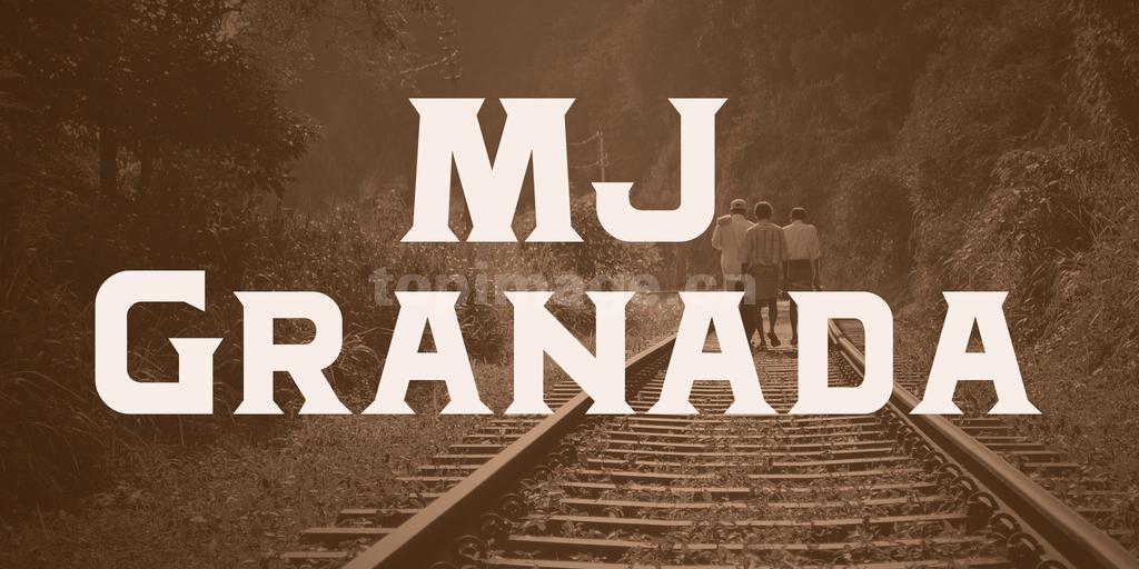 MJGranada复古罗马个性化粗体海报英文字体下载-topimage