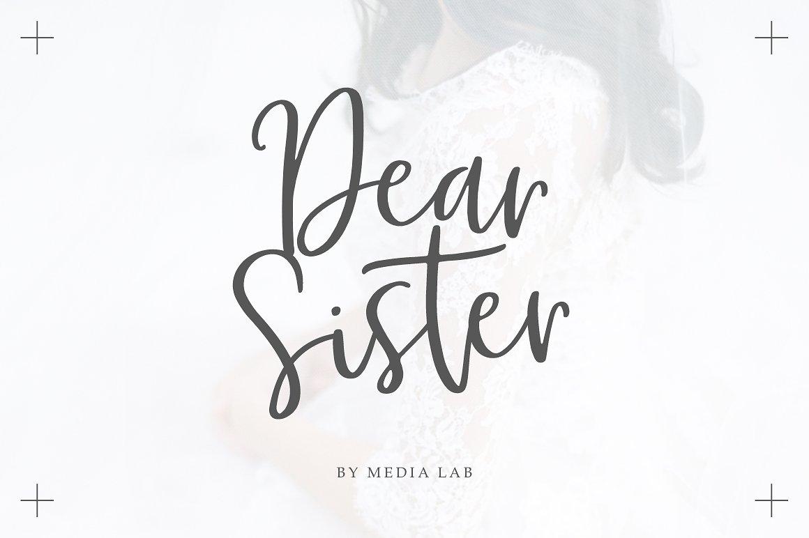 MLDearSister婚庆古典手写连笔英文字体下载