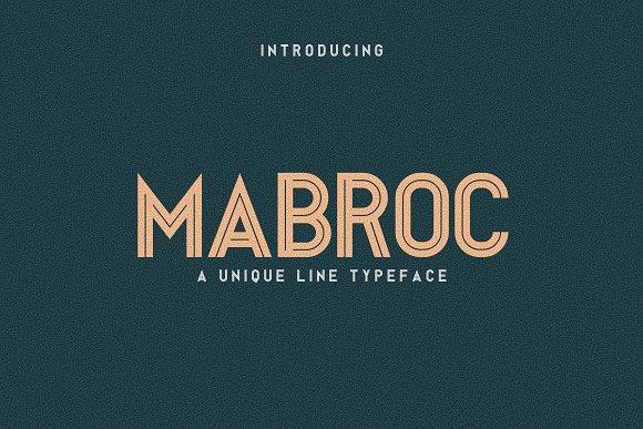 Mabroc线条无衬线简洁logo英文字体下载