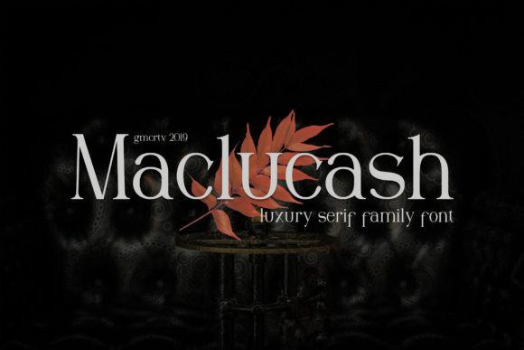 Maclucash衬线经典设计英文字体下载