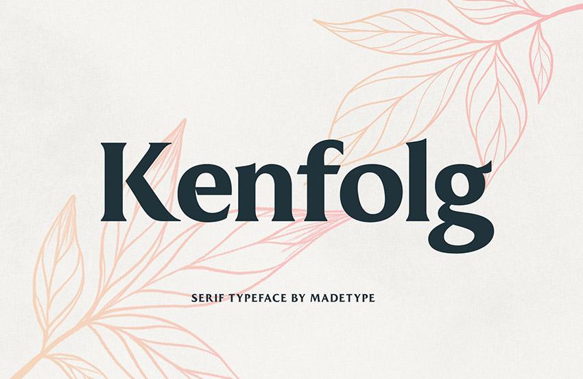 Made Kenfolg衬线时尚logo英文字体下载