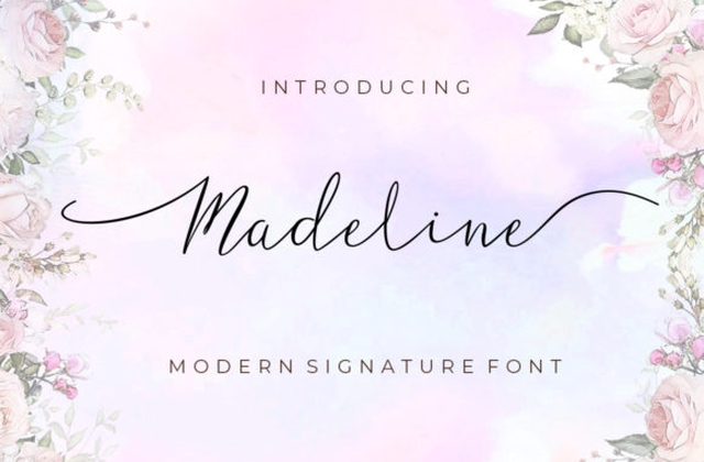 Madeline时尚卡通手绘海报英文字体下载