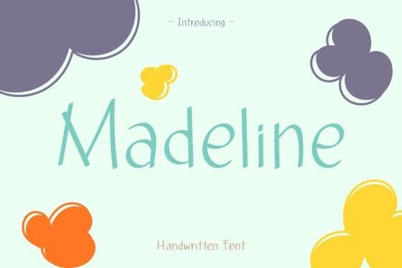 Madeline个性手写卡通趣味英文字体下载