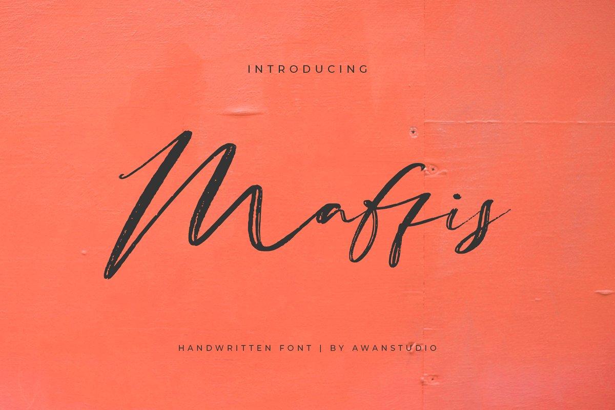 Maffis手写手绘笔触婚礼婚纱英文字体下载