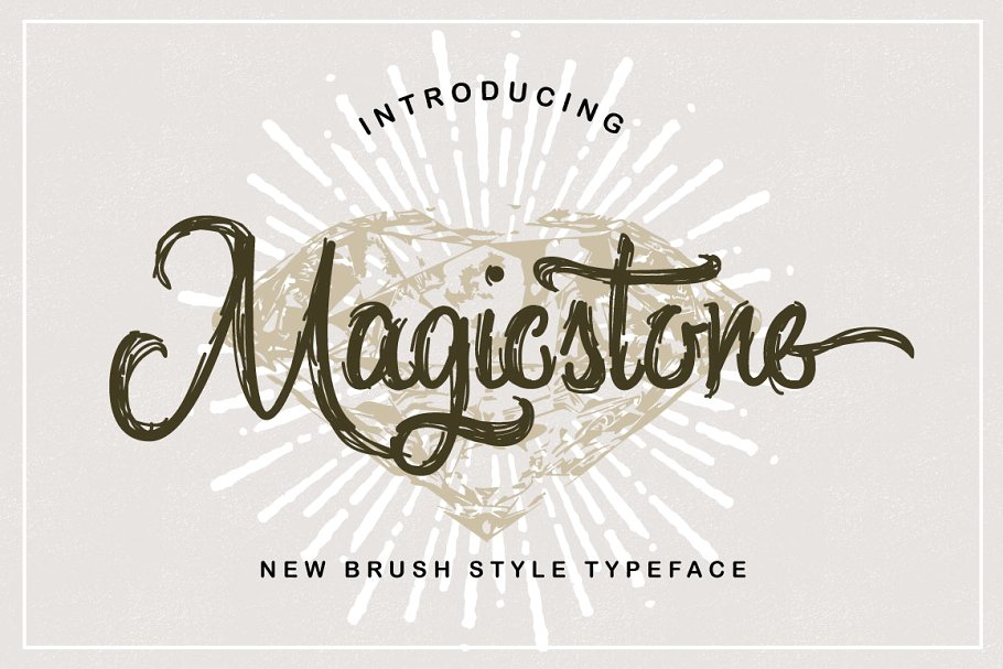 Magicstone手写连笔笔触纹理线条肌理英文字体下载