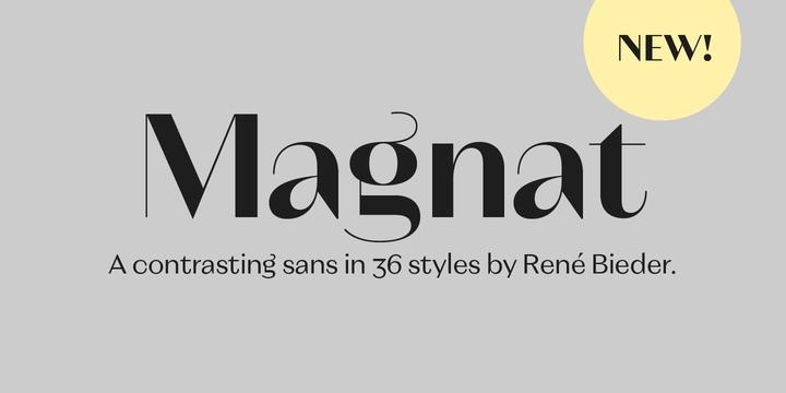 Magnat衬线时尚服装logo英文字体下载