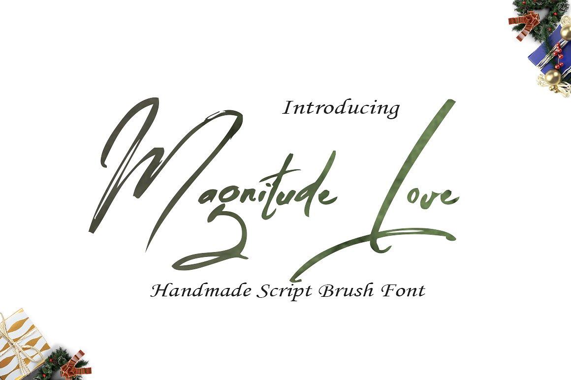 Magnitude Love 笔触书法连笔笔刷英文字体下载