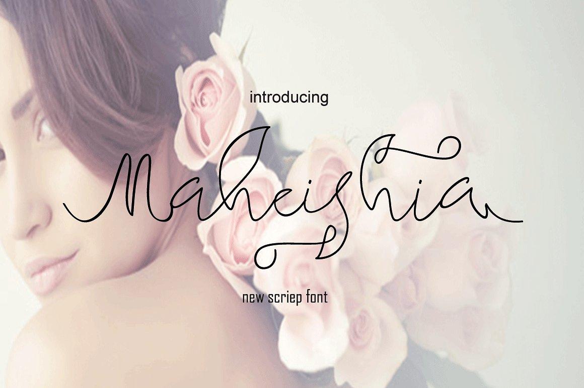 Maheishia手写连笔英文字体下载
