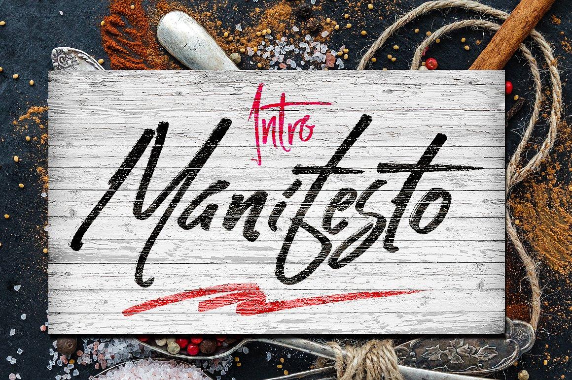 Maifesto书法连笔毛笔笔触潮牌服装英文字体下载