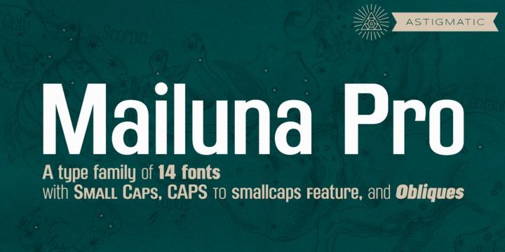 Mailuna Pro 简洁logo无衬线英文字体下载