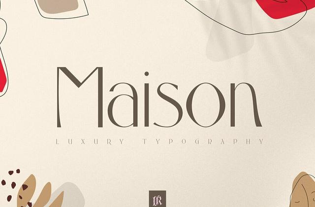Maison现代优雅logo英文字体下载