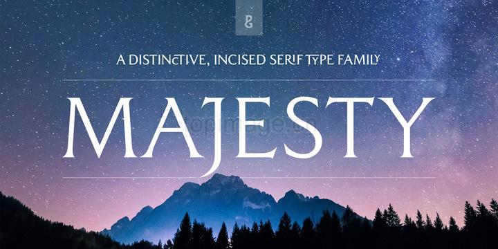 Majesty个性海报游戏主题衬线英文字体下载