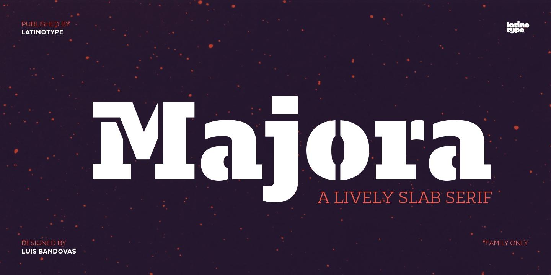 Majora现代logo设计英文字体下载