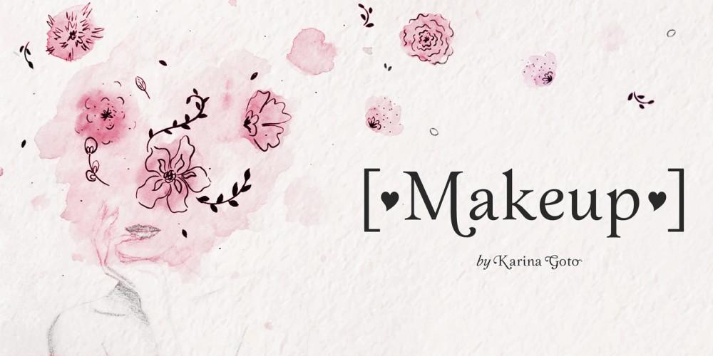 Makeup衬线logo个性英文字体下载