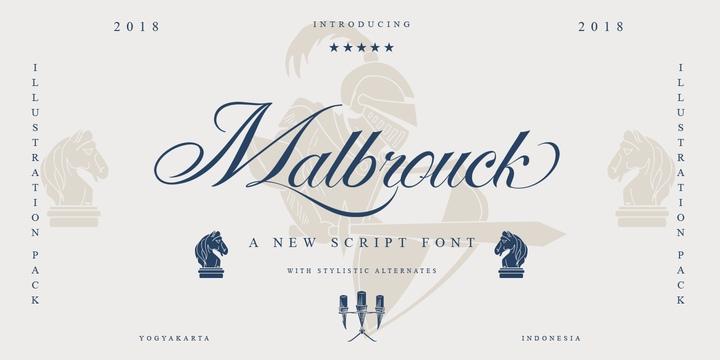 Malbrouck花式字体经典连笔英文下载