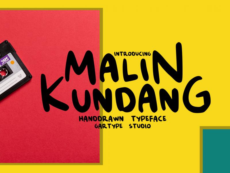 MalinKundang趣味手写儿童网站英文字体下载