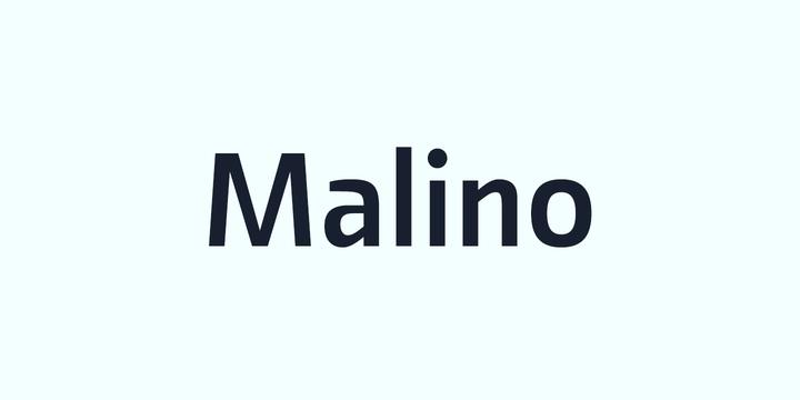 Malino 现代logo名片英文字体下载