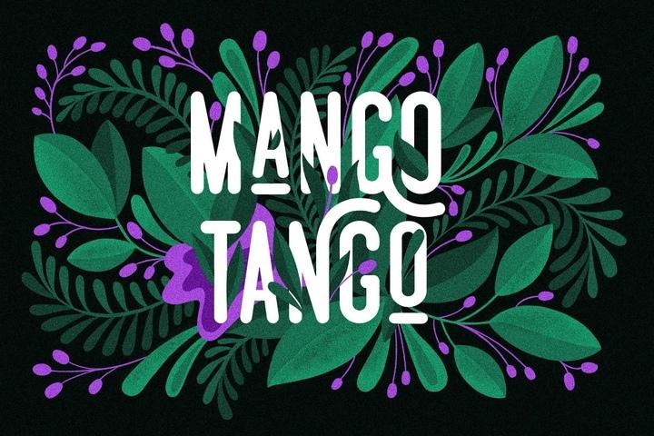 MangoTango现代圆润细长创意logo设计英文字体下载
