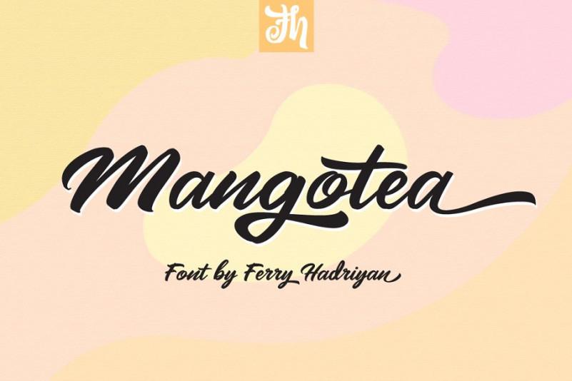 Mangotea手写时尚英文字体下载
