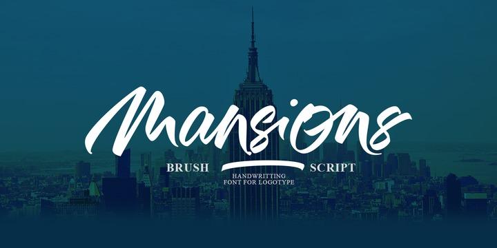 Mansions高端摄影海报主题手写英文字体下载