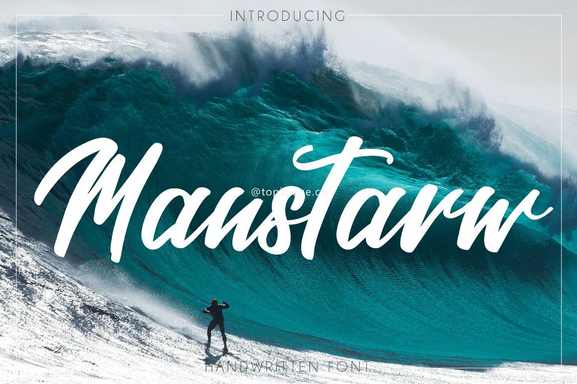 Manstarw大气粗狂摄影海报英文字体下载