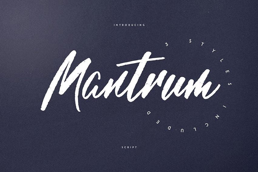 Mantrum笔触书法手写英文字体下载