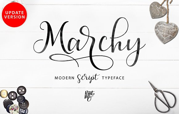 MarchyScript飘逸花式英文字体下载